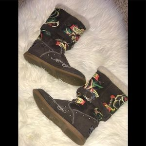 Women's Ed Hardy Dedicated Boots, Size 7
